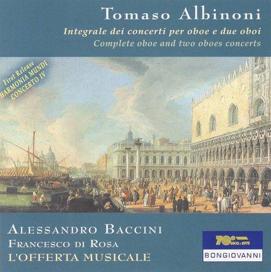 Albinoni: Complete Concertos For Oboe Solo And Two, Alessandro Baccini | CD (album) |...